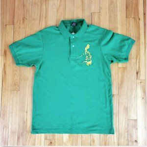 I Am Pinoy Mens Polo Sz S Green 100% PINOY